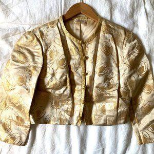 Vintage Gold Cropped Jacket